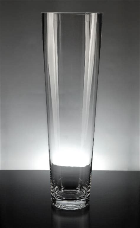 tapered clear glass cylinder