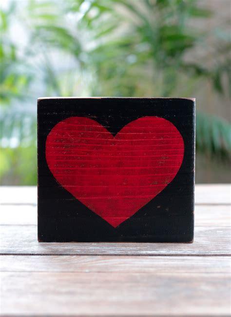 rustic heart wood sign hand   order  washington