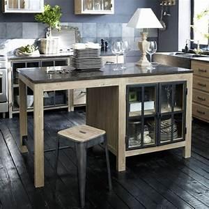 cuisine avec ilot central 43 idees inspirations With ilot de cuisine fait maison
