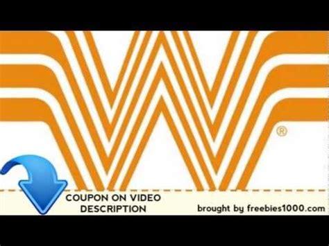 32433 Whataburger Printable Coupons by Whataburger Coupons Exclusive Printable Coupons
