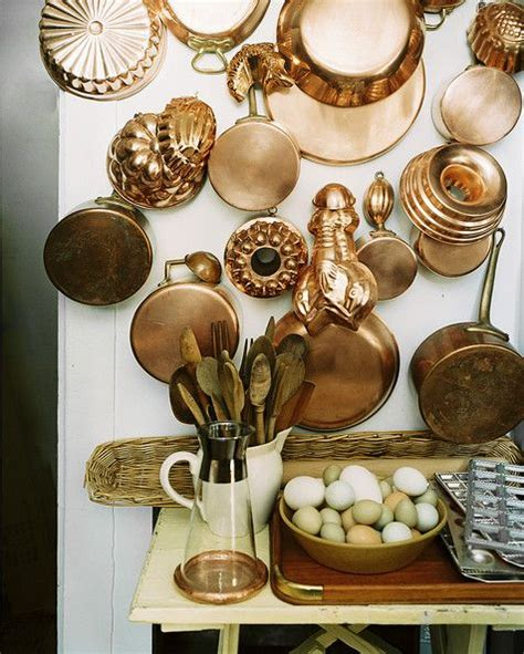 country kitchen  kitchen  copper copper pots