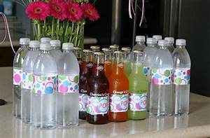 parties shes about to pop baby shower glorious treats With how to make custom water bottle labels