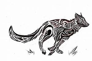 Running Wolf Tribal_sketch by VolatileFortune on DeviantArt