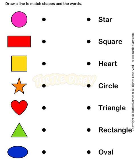 learn shape worksheets kindergarten math visual