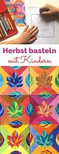 Blätter Basteln Herbst : herbst basteln mit kindern blatt vorlage basteln mit ~ Lizthompson.info Haus und Dekorationen