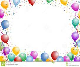 Birthday Balloon and Confetti Borders