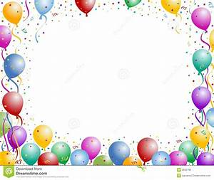 Balloon and confetti stock vector. Illustration of ...