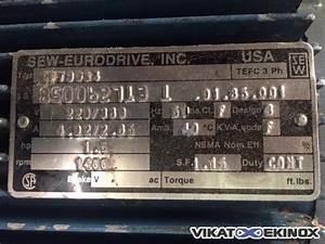 Sew Eurodrive Motor Nameplate