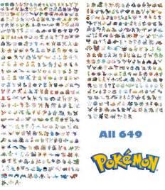 All 649 Pokemon List