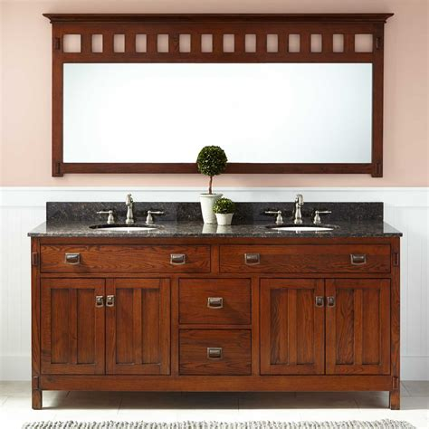Oak Vanity by 72 Quot Harington Oak Vanity For Undermount Sinks