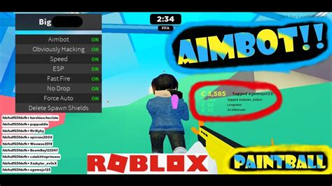 roblox paintball aimbot script  youtube