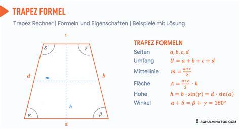 qm berechnen formel rechner viereck rechteck trapez formel