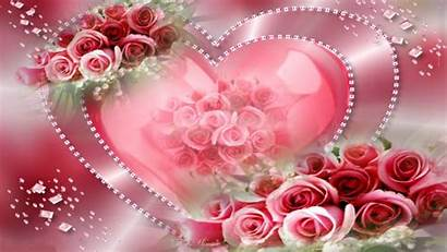Hearts Heart Flowers Wallpapers Pretty Roses Pink