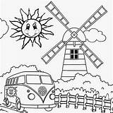 Coloring Summer Pages Preschool Camping Printable Print Crafts Holiday Happy Sun Weather Things Windmill Preschoolers Wild Swimming Pool Kindergarten Vw sketch template