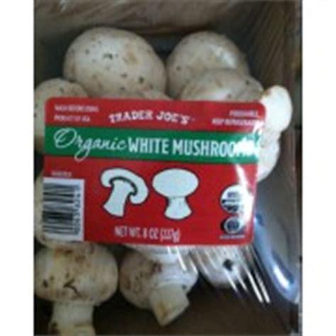 the organic kitchen trader joe s organic white mushrooms calories nutrition 2723