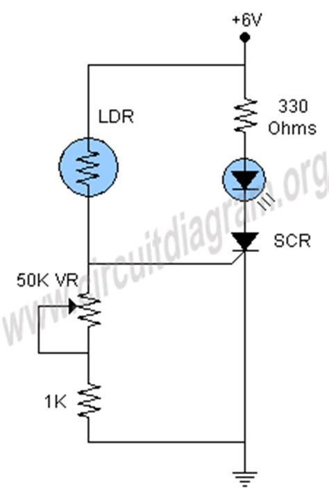 Light Activated Led Using Scr Circuit Diagram