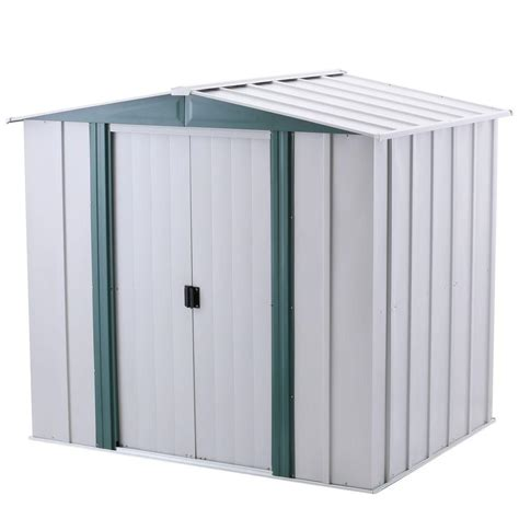arrow hamlet 6 ft x 5 ft steel storage shed with floor
