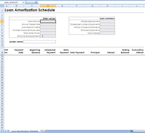 mortgage amortization table excel mortgage amortization schedule excel 2010