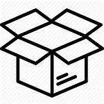 Icon Box Delivery Unpack Parcel Open Shipping