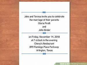 3 easy ways to write wedding invitations with pictures for Wedding invitations writing names