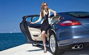 Woman With Luxury Car Cars Girls Pinterest