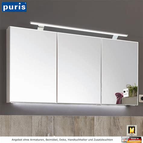 spiegelschrank mit led puris vuelta spiegelschrank mit led aufbauleuchte 140 cm