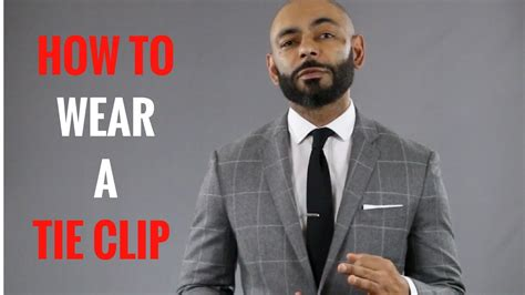 How To Wear A Tie Clip Youtube
