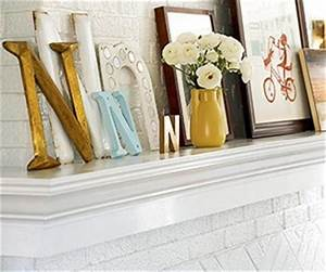 initials mantle ideas and letter n on pinterest With mantle letters