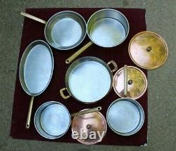 vtg culinox copper stainless steel  pan  piece set high quality swiss