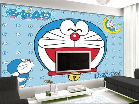 keren  desain wallpaper dinding kamar doraemon