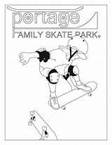 Skateboard Ramp sketch template