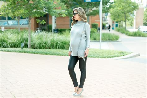 Tunic Sweater + Leather Leggings • For The Love Of Fancy