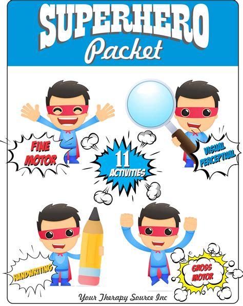 superhero packet  images handwriting activities