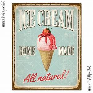 Vintage Ice Cream Sign, Party Decor, Ice Cream Social, Ice