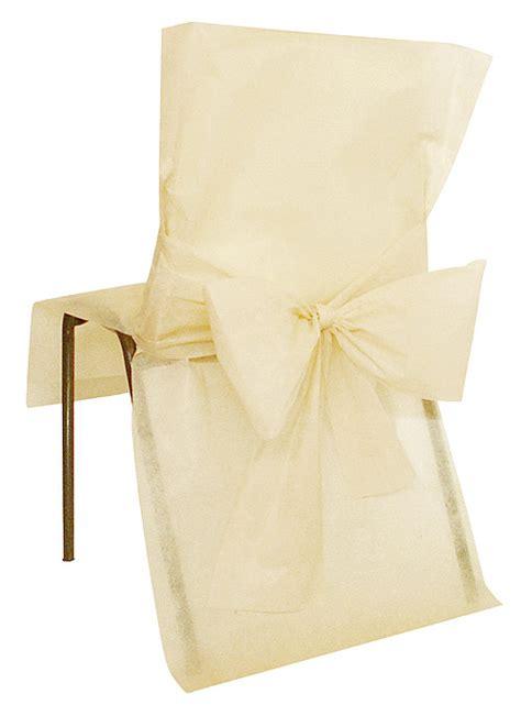 housse de chaise en papier housses de chaise avec noeud mariage x4 housses de