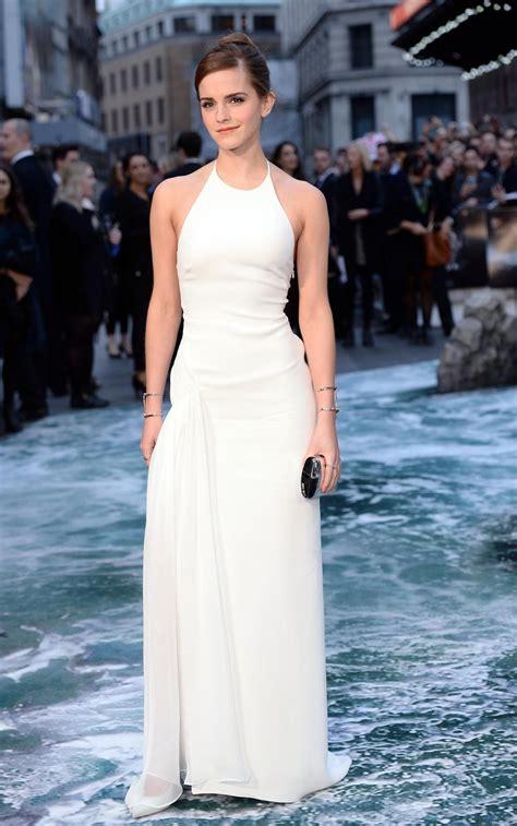 Emma Watson Stuns Leggy Dress Noah Premiere