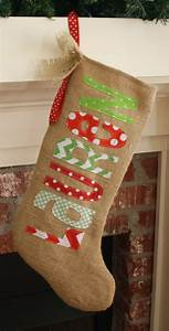 reserved listing burlap christmas stocking With personalized letter stockings