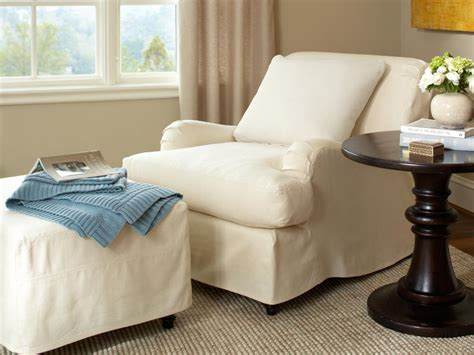 chair and ottoman slipcovers slipcovers for chairs ottomans and more hgtv