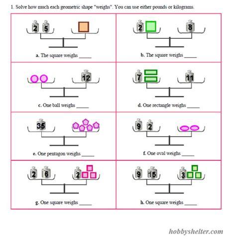 pan balance problems kiddo shelter educative puzzle for kids balancing equations algebra