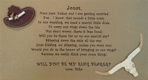 ring bearer poem i wrote horseshoe wedding our wedding diy wedding ring bearer