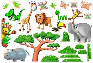 Stickers Animaux De La Jungle : stickers pour enfants animaux de la jungle africaine 2 ~ Mglfilm.com Idées de Décoration