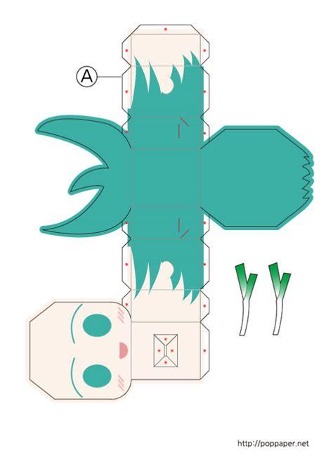 paper toy hatsune miku paper toy