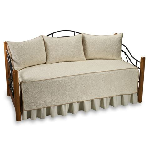 vallejo 100 cotton quilted daybed set in ivory