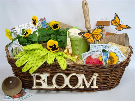 gift ideas for patio garden gift basket gardening themed gift baskets for