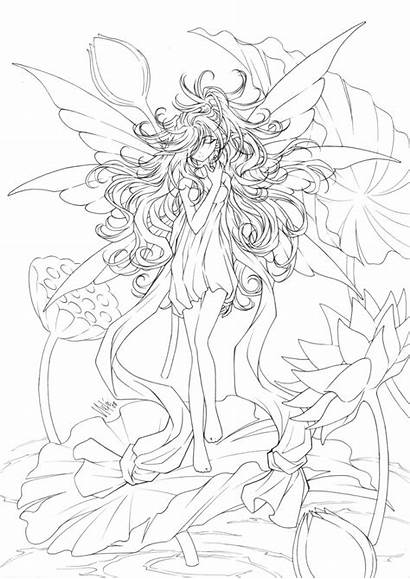 Coloring Pages Fairy Adults