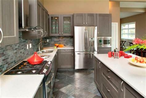 west vancouver  monochromatic gray kitchen