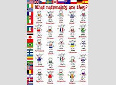 32 FREE ESL nationality worksheets