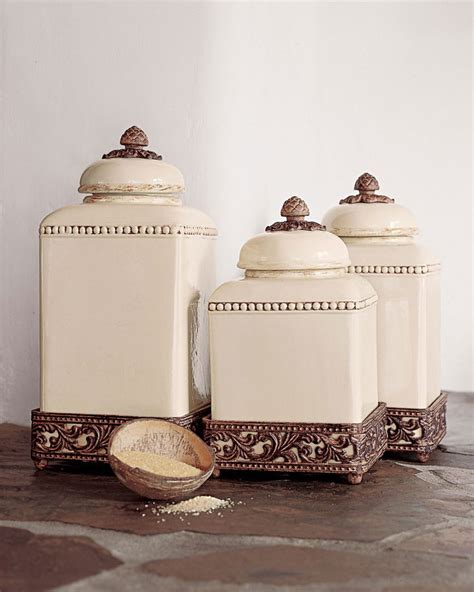 Ceramic Canister Sets For Kitchen by Unique Decorative Canisters Kitchen 2 Gg Collection