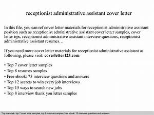 receptionist administrative assistant cover letter With cover letter samples for receptionist administrative assistant