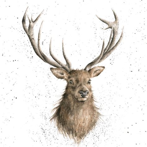 CS087 Portrait of a Stag The Country Set Collection by Wrendale Designs